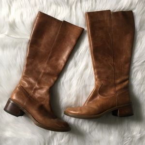 Rockport Women's Knee High Brown Leather Boots